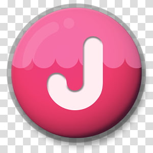 pink and white letter j illustration, Letter J Roundlet PNG
