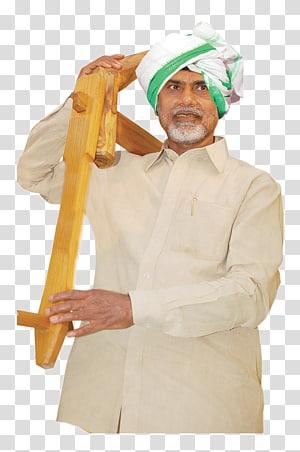 man carrying brown wooden tool, N. Chandrababu Naidu Telugu Desam Party Kuppam Chief Minister Tirupati, tdp PNG