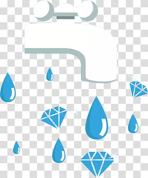 Water Drop, Hand painted water droplets PNG clipart