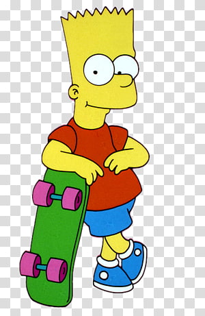 Bart Simpson Homer Simpson Marge Simpson The Simpsons Skateboarding Lisa Simpson, Bart Simpson PNG clipart