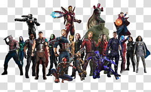 Marvel Avengers characters, Captain America Hulk Thanos Groot Spider-Man, team PNG clipart