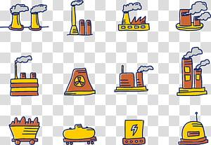 Factory Cartoon , Cartoon factory work PNG clipart