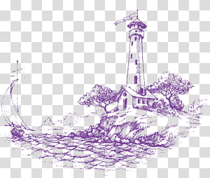 Drawing Lighthouse, others PNG