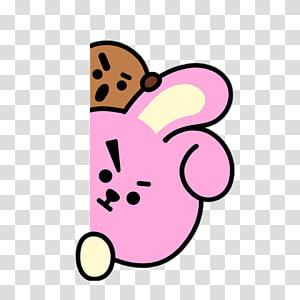 BTS Cafe Biscuits Daegu Line Friends, Flower sticker PNG clipart