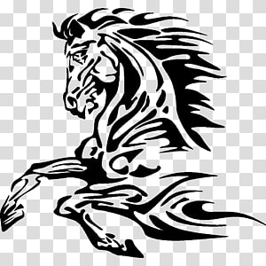 American Paint Horse Mustang Equestrian Jumping Stencil, virgo PNG