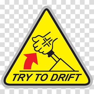 Decal Bumper sticker Drifting Car, drift PNG