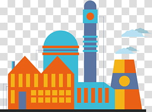 Factory Euclidean , Factory chimneys clouds PNG clipart
