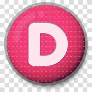 round pink with letter-d illustration, Letter D Roundlet PNG