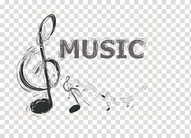 hand-painted musical material PNG