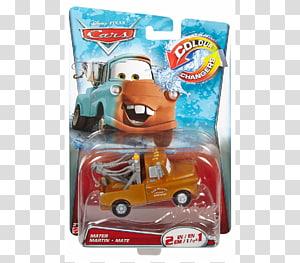 Mater Disney/Pixar Cars Lightning McQueen, car PNG clipart