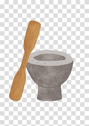 Mortar and pestle Tableware, one on one PNG
