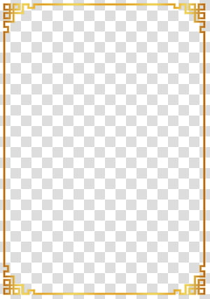 chinese style gold border PNG