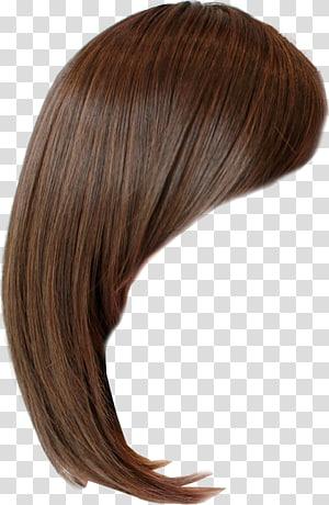 Hairstyle Wig Bangs Brown hair, hair Wig PNG clipart