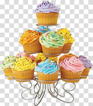 Cupcake Muffin Chocolate brownie Chocolate truffle, cupcake stand PNG