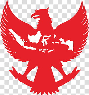 red eagle with map illustration, National emblem of Indonesia Garuda, others PNG clipart