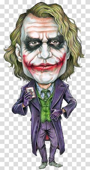 Joker Heath Ledger The Dark Knight Batman Caricature, joker PNG clipart