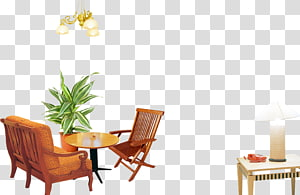 Table Chair Interior Design Services, Warm home PNG