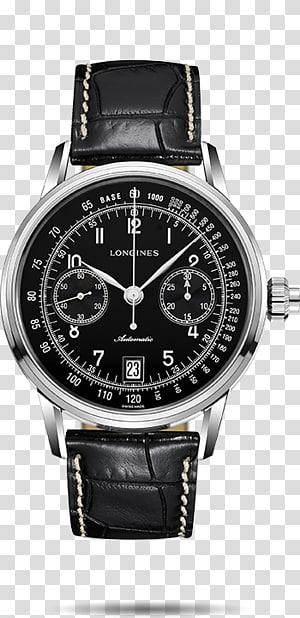 Longines Chronograph Watch Clock Omega SA, hand painted alarm clock PNG