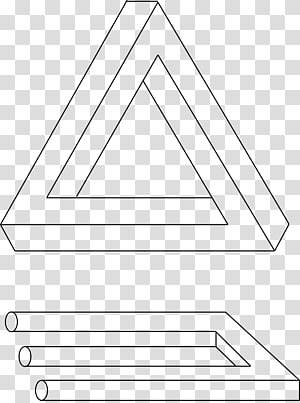 Penrose triangle Penrose stairs Impossible object Mathematician, triangle PNG clipart