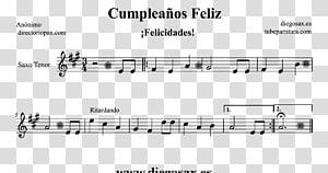 Sheet Music Trumpet Saxophone Flute Song, sheet music PNG clipart