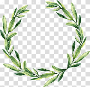 green leaf garland PNG clipart