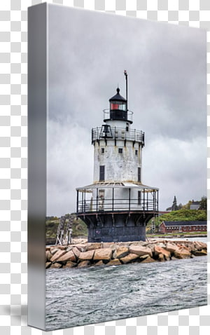 Lighthouse, scene illumination PNG clipart