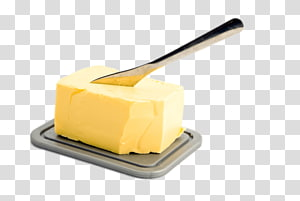 cheese and stainless steel butter knife illustration, Knife In Butter PNG clipart