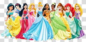 Disney Princesses , Ariel Cinderella Rapunzel Princess Aurora Fa Mulan, Disney Princess PNG clipart