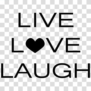 Wall decal Quotation Love Sticker, Live Laugh Love PNG