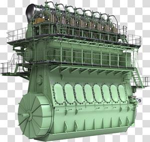 Ship Diesel engine MAN Diesel Marine propulsion, co2 gas engine PNG clipart