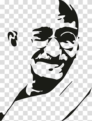 India Gandhi Jayanti Stencil Gandhi: My Life is My Message, India PNG