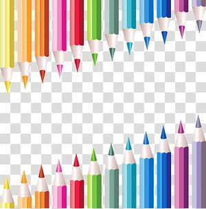 Student State school Education, School Pencils Decoration, illustration of color pens PNG clipart