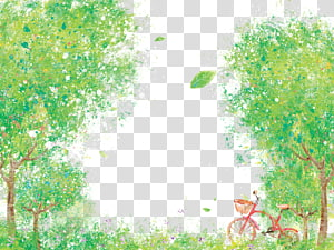 u30b9u30c8u30c3u30afu30d5u30a9u30c8 Illustration, Trees and bike PNG clipart