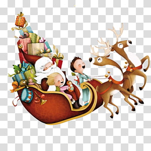 christmas reindeer element PNG clipart