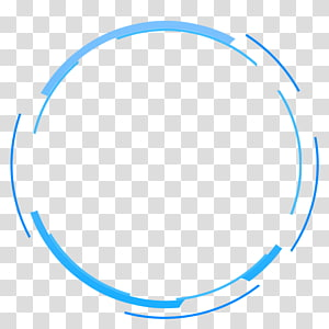 blue simple circle border texture PNG