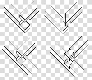 Lap joint Woodworking joints Carpenter, joint PNG clipart