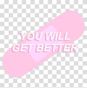 Pastel Aesthetics Kavaii Text, pink fonts PNG