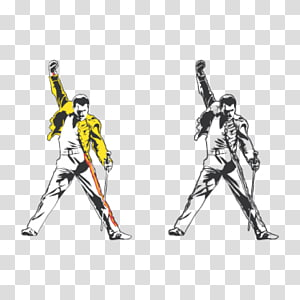 man holding swords illustration collage, The Freddie Mercury Tribute Concert Queen Wall decal Sticker, Tribute PNG clipart
