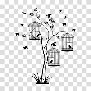 Birdcage Wall decal Sticker, Bird PNG clipart
