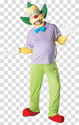 Krusty the Clown Costume Clothing Bart Simpson, clown PNG clipart