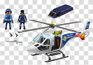 Helicopter Police aviation Playmobil Toy, helicopter PNG clipart