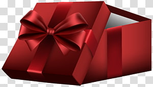 Gift Box Paper , Red Open Gift Box PNG clipart