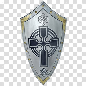 Middle Ages Crusades Knights Templar Shield, shield PNG