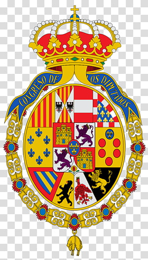 Senate of Spain Spanish West Indies Coat of arms Spanish Empire, gold badge PNG