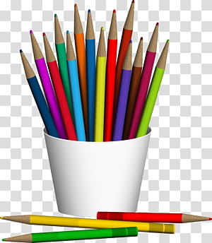 assorted-color pencil crayons, Colored pencil, pencil and pen PNG clipart