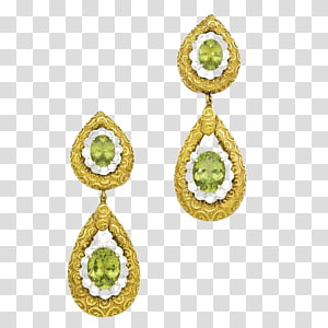 Earring Gemstone Body piercing jewellery Human body, Peridot Jewelry PNG