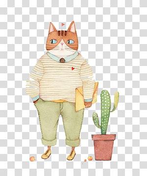 Cats Hello Kitty Illustration, Cartoon cat PNG