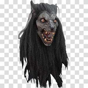Gray wolf Halloween costume Mask Werewolf, mask PNG clipart