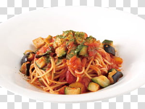 Spaghetti alla puttanesca Taglierini Naporitan Pasta al pomodoro Chinese noodles, food menu PNG clipart