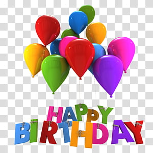 Happy Birthday to You Happy! , birthday balloon PNG clipart